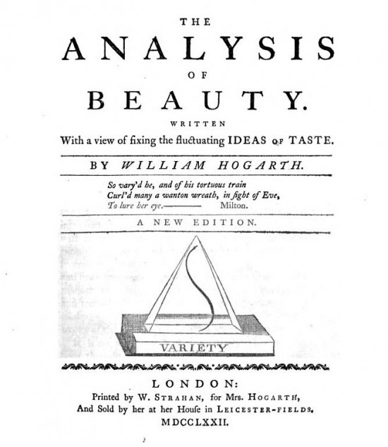 William Hogarth (1753) 'The Analysis of Beauty' book