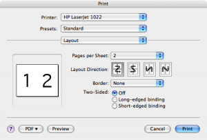 how to print two pages